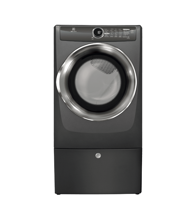 Front Load Perfect Steam(TM) Electric Dryer with Instant Refresh and 8 cycles - 8.0 Cu. Ft.  Titanium