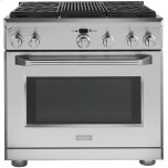 "GE MonogramMONOGRAMMonogram(R) 36"" Dual-Fuel Professional Range with 4 Burners and Grill (Natural Gas)"