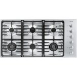 MieleMiele KM 3485 G Gas cooktop with 2 dual wok burners for particularly versatile cooking convenience.