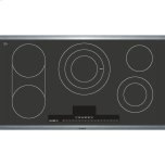 "BoschBENCHMARK SERIES36"" Electric Cooktop Benchmark Series - Black with Stainless Steel Frame"