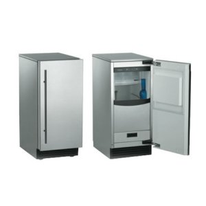 Scotsman Brilliance Nugget Ice Machine Stainless Steel Wrap W/unfinished Front, Gravity Drain