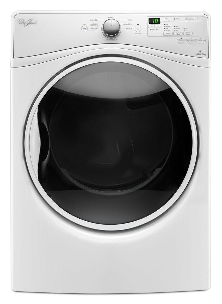 7.4 cu.ft Front Load Gas Dryer with Advanced Moisture Sensing, 8 cycles  White