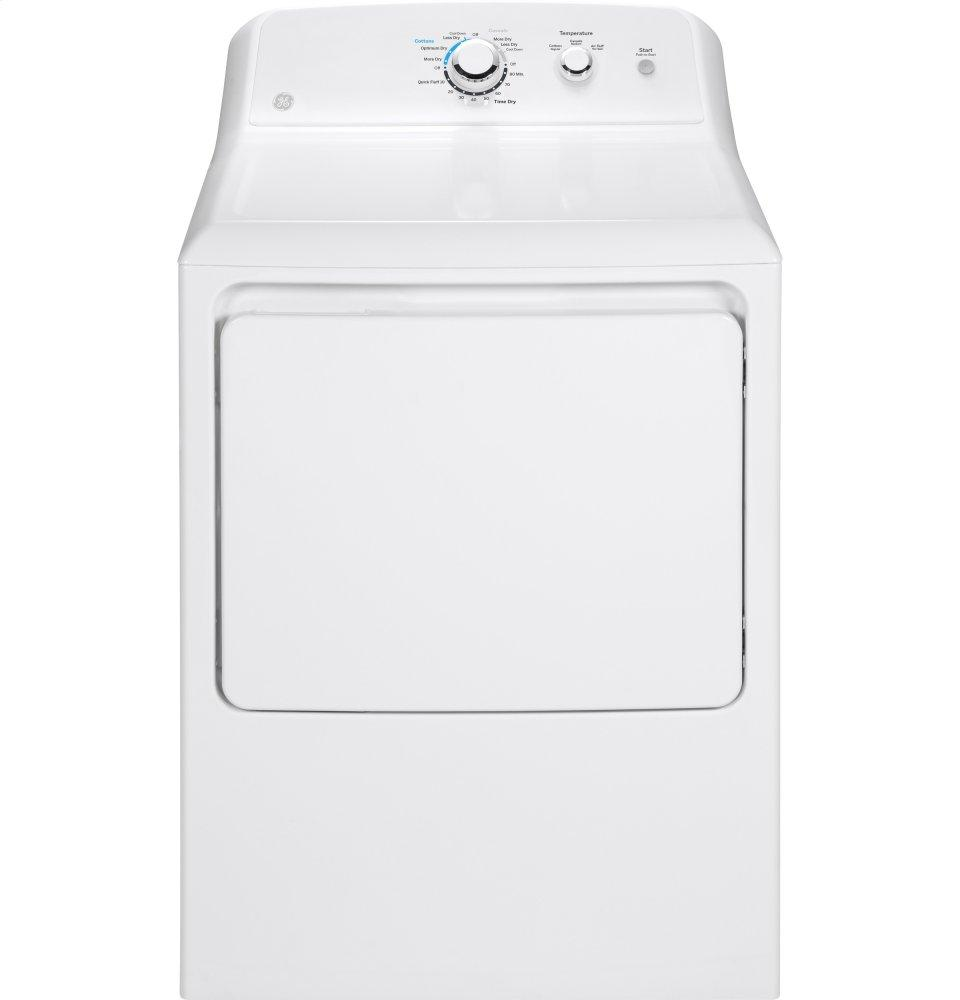 GE(R) 7.2 cu. ft. capacity aluminized alloy drum electric dryer