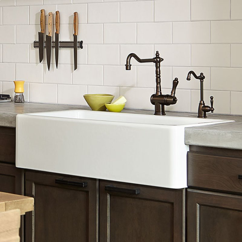 ... White by Dxv in Vancouver, BC - Hillside 36 Inch Kitchen Sink - Canvas