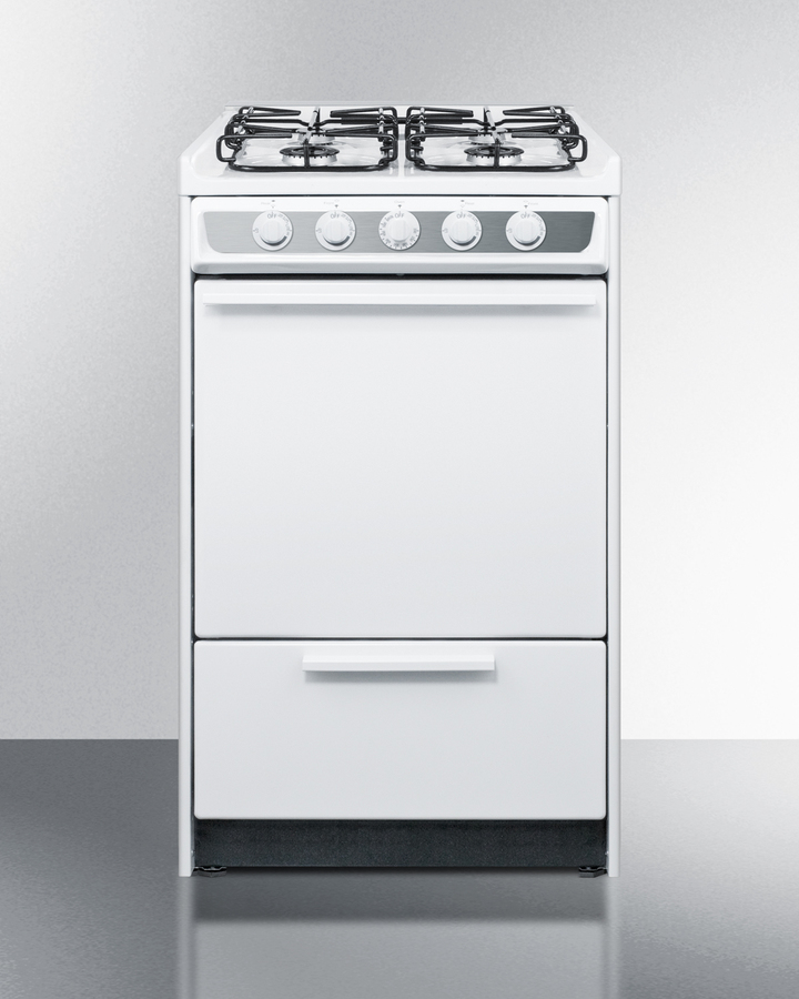 """20"""" Wide Slide-in Gas Range In White With Sealed Burners and Electronic Ignition; Replaces Wnm114r"""