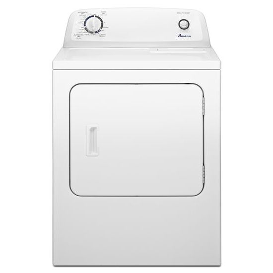 6.5 cu. ft. Electric Dryer with Wrinkle Prevent Option - white  white