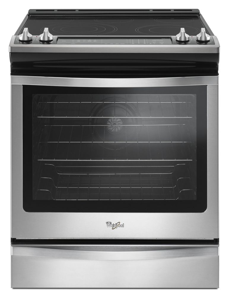 6.4 Cu. Ft. Slide-In Electric Range with True Convection  Stainless Steel
