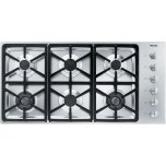 MieleMiele KM 3484 G Gas cooktop with 2 dual wok burners for particularly versatile cooking convenience.