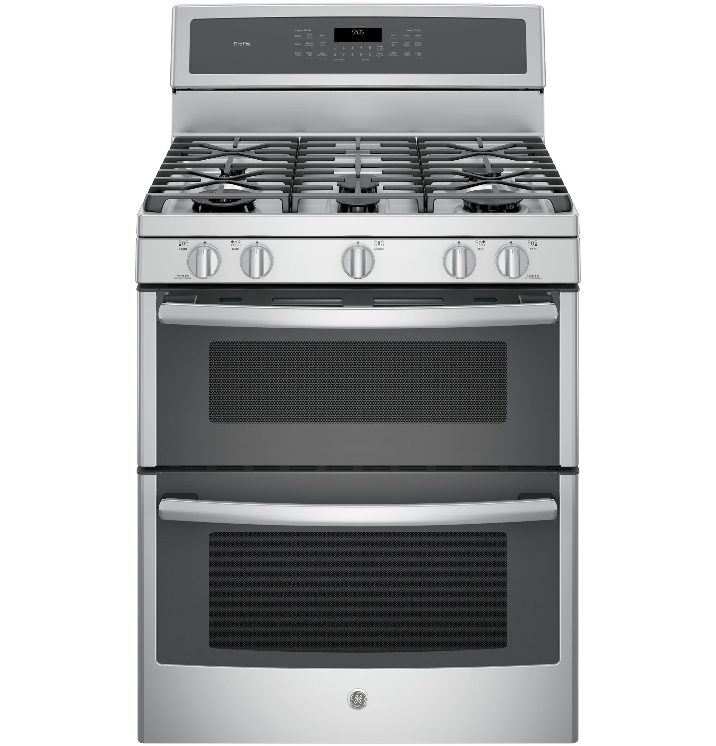 "GE Profile(TM) Series 30"" Free-Standing Gas Double Oven Convection Range