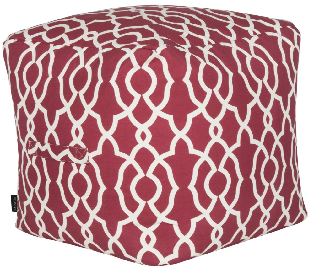 Vivienne Cullen Pouf - Red And White