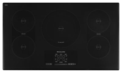 36-Inch 5-Element Induction Cooktop, Architect(R) Series II - Black  Black