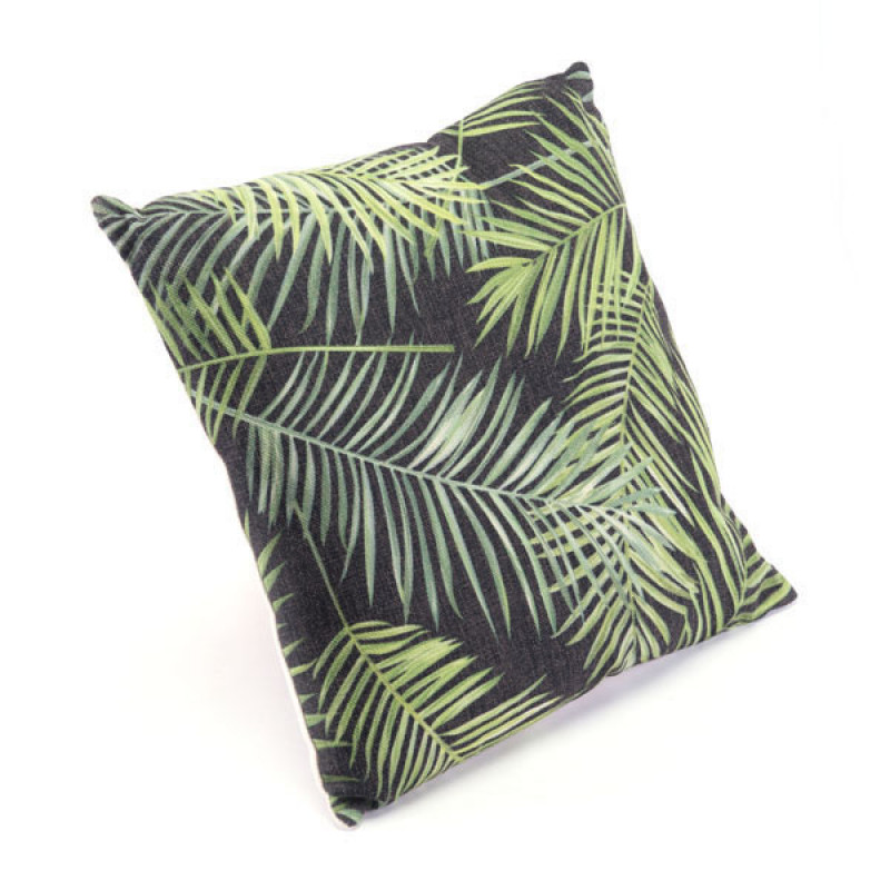 Tropical Black & Green Pillow Grn & Blk
