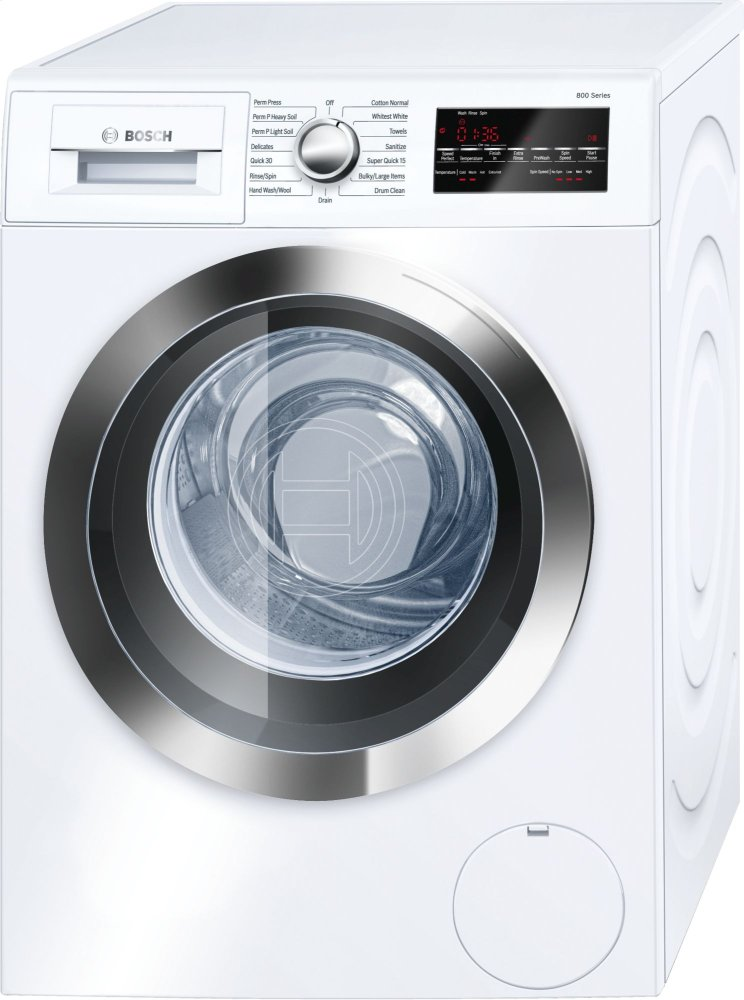 800 Series Washer - 208/240V, Cap. 2.2 cu.ft., 15 Cyc.,1,400 RPM, 49 dBA Chr./Door, AquaStop(R), ENERGY STAR