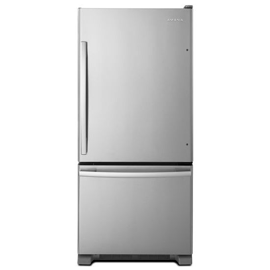29-inch Wide Bottom-Freezer Refrigerator with EasyFreezer(TM) Pull-Out Drawer -- 18 cu. ft. Capacity - stainless steel