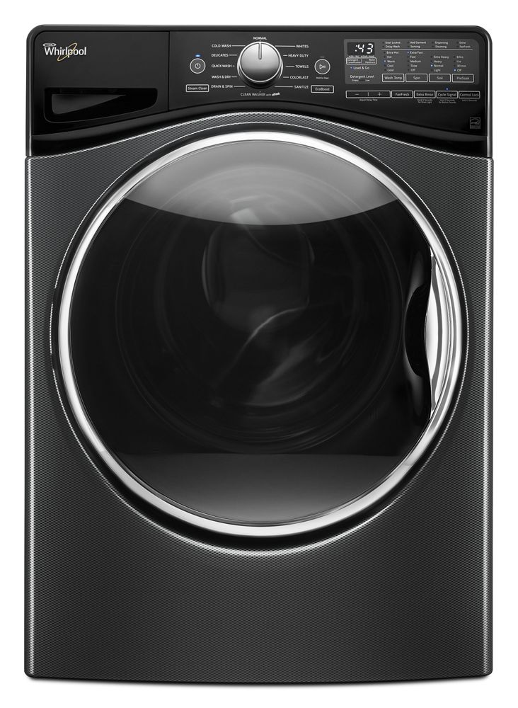 4.2 cu. ft. Front Load Washer with Closet-Depth Fit  Black