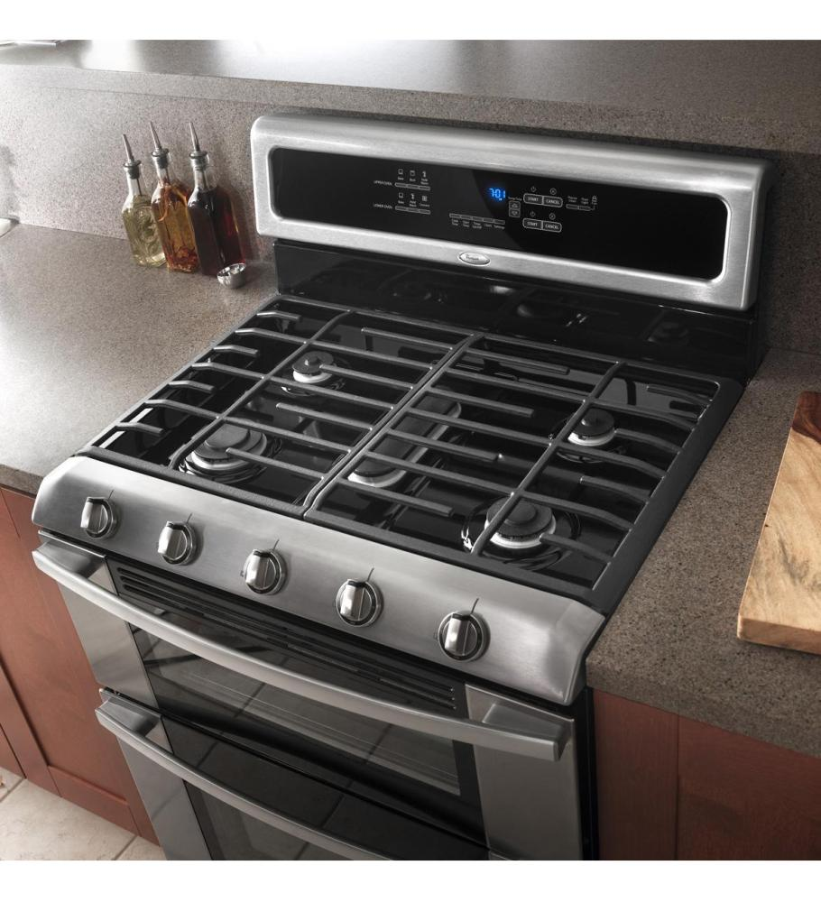 additional gold double oven gas range