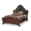 Queen Tufted Leather Mansion Bed (3 pc) Product Image