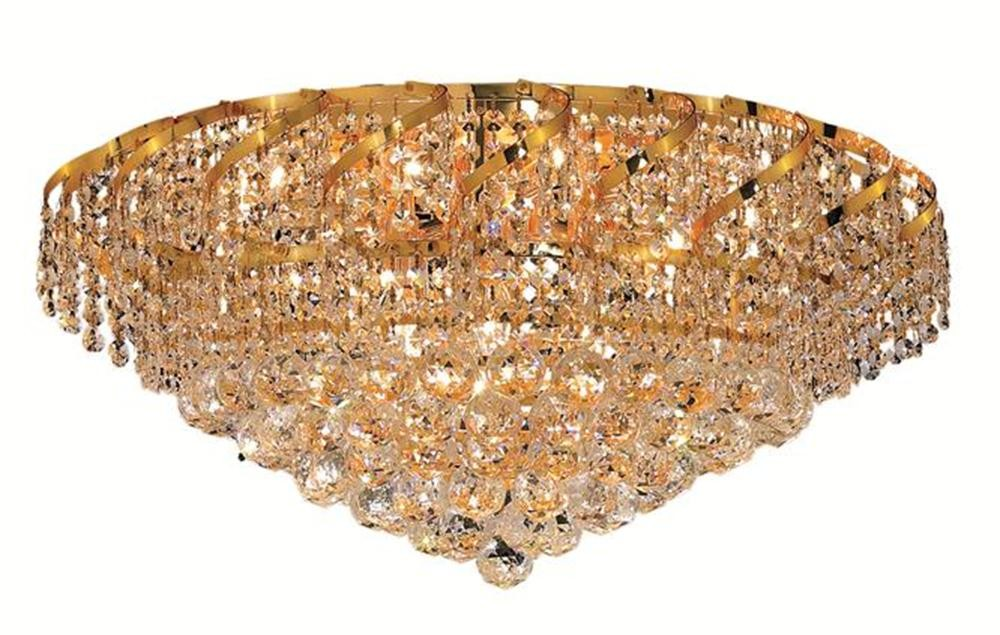 ECA1 Belenus Collection Flush Mount Gold Finish (Royal Cut Crystals)