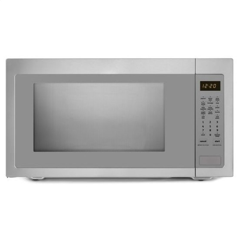 ... cu. ft. Countertop Microwave with Greater Capacity - stainless steel