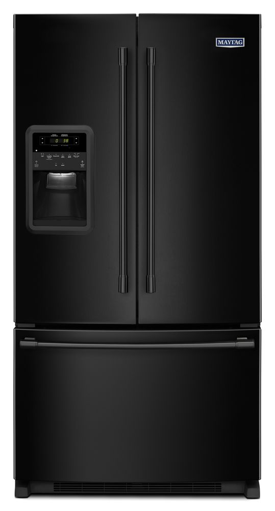 33- Inch Wide French Door Refrigerator with Beverage Chiller Compartment - 22 Cu. Ft.  Black