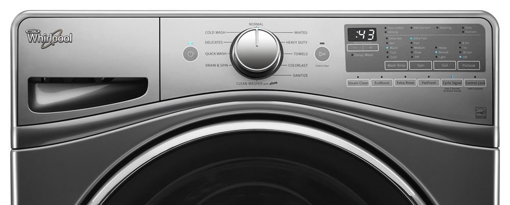 4.5 cu. ft. Front Load Washer with 12-Hour FanFresh(R) option  Chrome Shadow