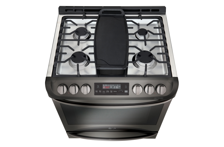 LG Black Stainless Steel Series 6.3 cu. ft. Gas Slide-in Range with ProBake Convection(R) and EasyClean(R)  Black Stainless Steel