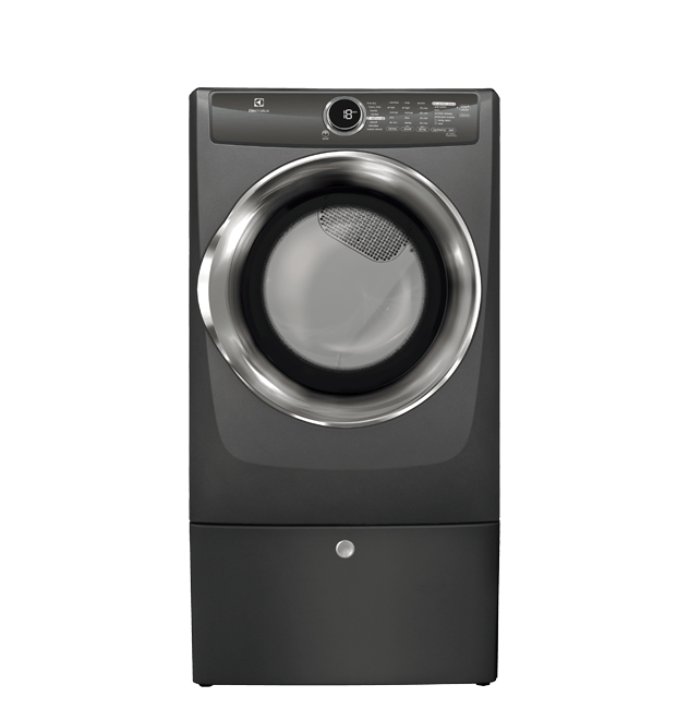 Front Load Perfect Steam(TM) Gas Dryer with Instant Refresh and 8 cycles - 8.0 Cu. Ft.  Titanium