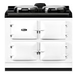"""Dual Control 39"""" Electric White with Stainless Steel trim"""