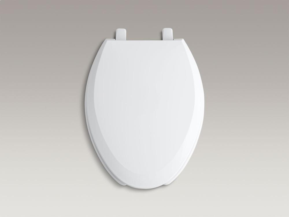 Hidden   Additional Ice Grey Elongated Toilet Seat Hidden  Kohler Logo. Kohler K465095   Studio41   Ice Grey Elongated Toilet Seat