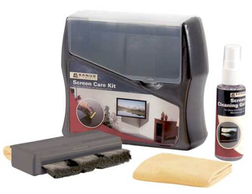 Screen Care Kit; Gently cleans monitors and TVs - Black