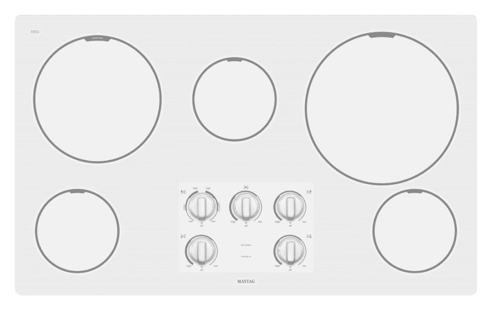 Maytag36-inch Electric Cooktop with Two Power Cook Burners