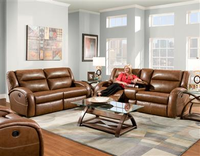 hidden additional double reclining sofa with 2 seats