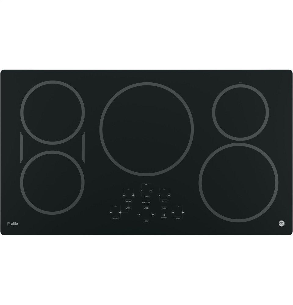 """GE Profile(TM) Series 36"""" Built-In Touch Control Induction Cooktop  Black"""