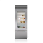 Sub ZeroSub Zero 30&quot Classic Over-and-Under Refrigerator/Freezer with Glass Door