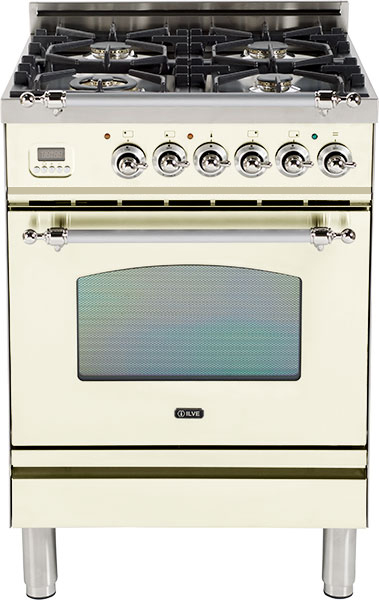 "Antique White - Nostalgie 24"" Gas Range