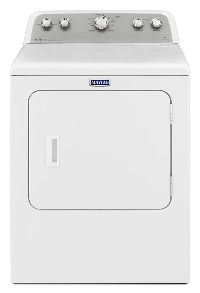 7.0 cu. ft. Dryer with Sanitize Cycle  White
