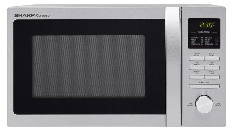Countertop Microwave Small Footprint : Sharp Carousel Countertop Microwave Oven 0.9 cu. ft. 900W Stainless ...