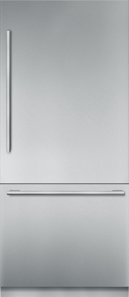36 inch Stainless Steel Built in 2 Door Bottom Freezer, Pre-Assembled, Masterpiece(R) Handle T36BB910SS