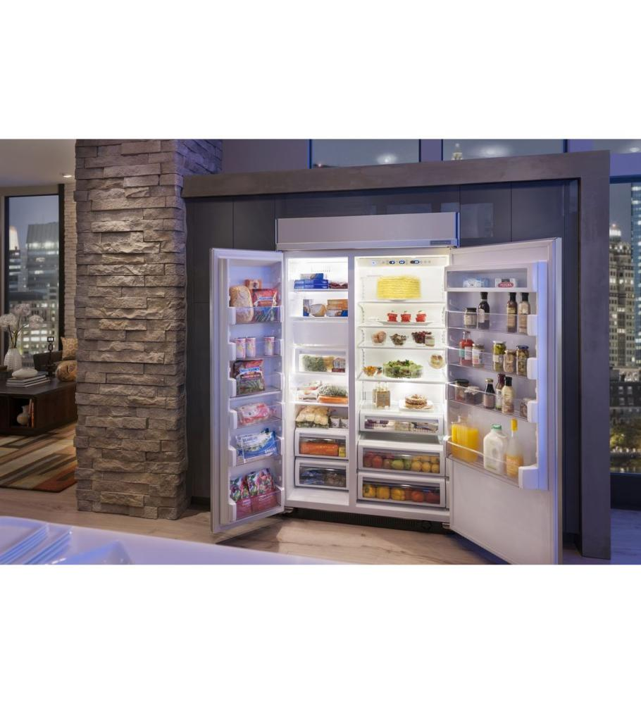 Side by side refrigerator 30 inch width - 48 Built In Side By Side Refrigerator 30 Cu Ft Capacity Extendfresh Plus Temperature Management System Aquasense Base Grille Filtration System