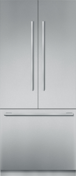 36 inch Stainless Steel Built In French Door bottom Freezer, Pre-Assembled, Masterpiece(R) Handle T36BT910NS
