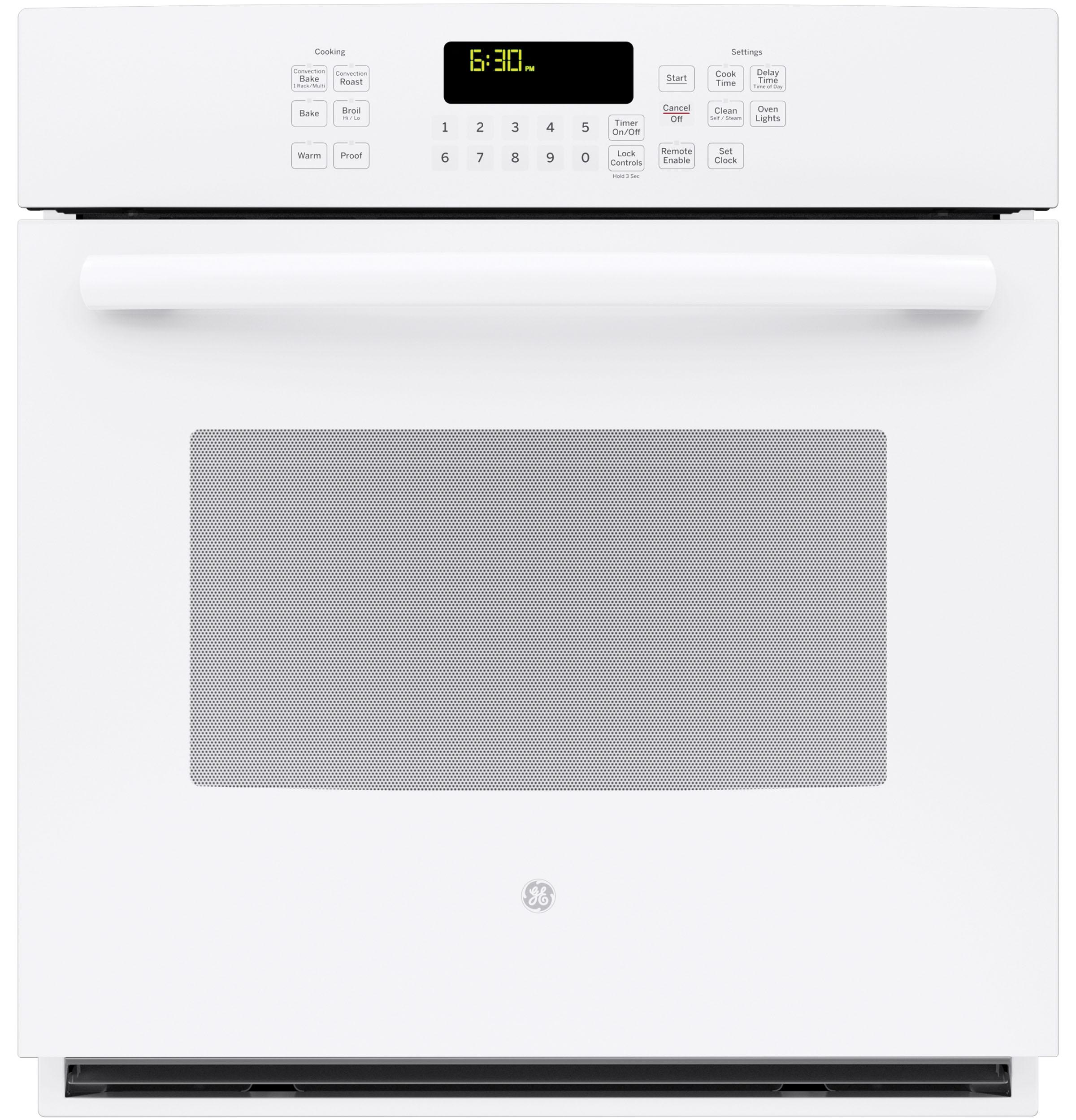 """GE Profile(TM) Series 27"""" Built-In Single Convection Wall Oven  White"""