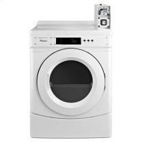 "Whirlpool(R) 27"" Commercial Electric Dryer with with Factory-Installed Coin Slide and Coin Box - White"
