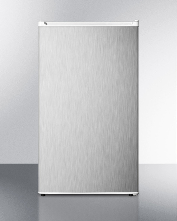 Energy Star Qualified Auto Defrost Refrigerator-freezer for Freestanding Use, With White Cabinet and Reversible Stainless Steel Door