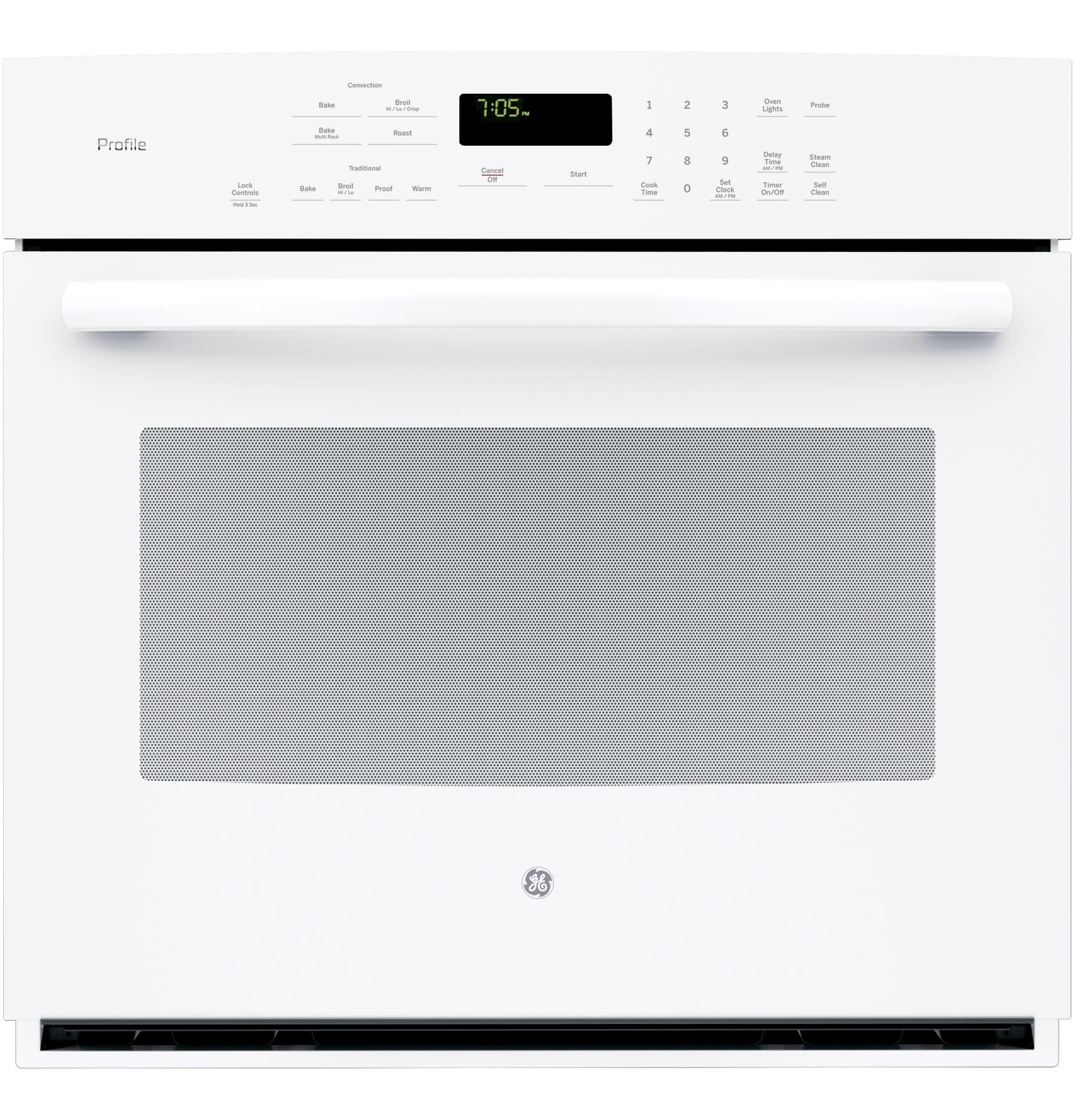 GE APPLIANCES PT7050DFWW  White on ELECTRIC RANGESSINGLE WALL ELECTRIC OVEN