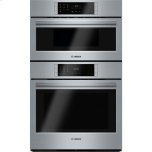 BoschBENCHMARK SERIES30&quot Electric Speed Combination Wall Oven, 4.6 Cu. Ft. Oven Capacity, European Convection Oven, Convection Microwave, 14 Cooking Modes - Stainless Steel