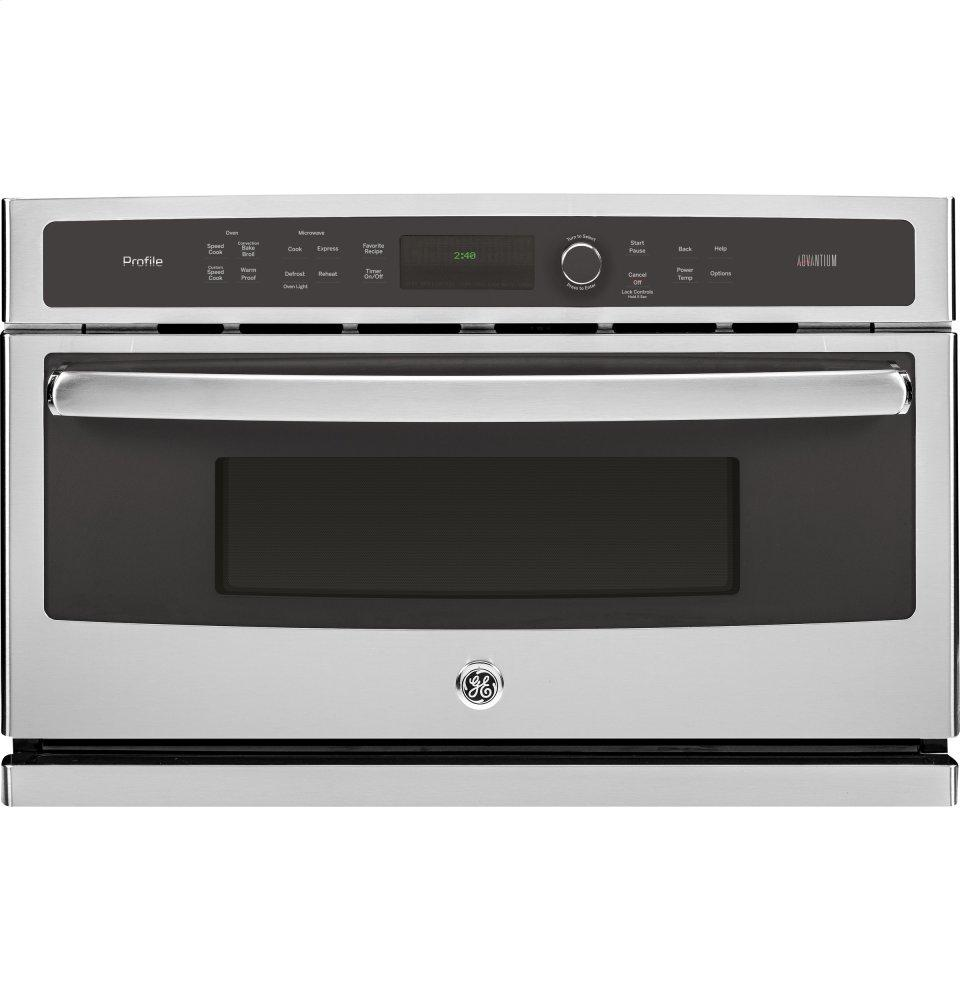GE Profile(TM) Series 30 in. Single Wall Oven with Advantium(R) Technology  Stainless Steel