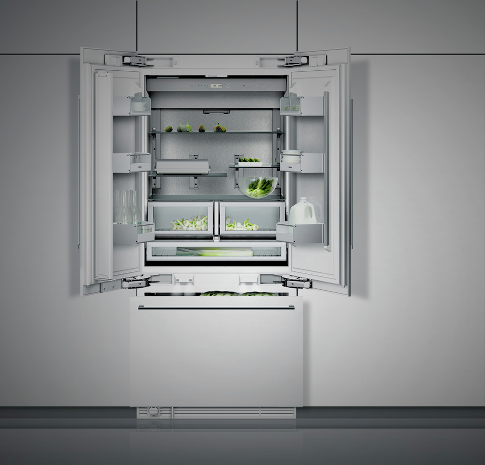 Gaggenau 36\  Built In French Door Refrigerator & Gaggenau Built In Refrigerators French Door Built In RY492701