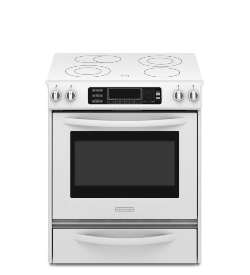 ... Inch 4-Element Electric Slide-In Range, Architect? Series II - White
