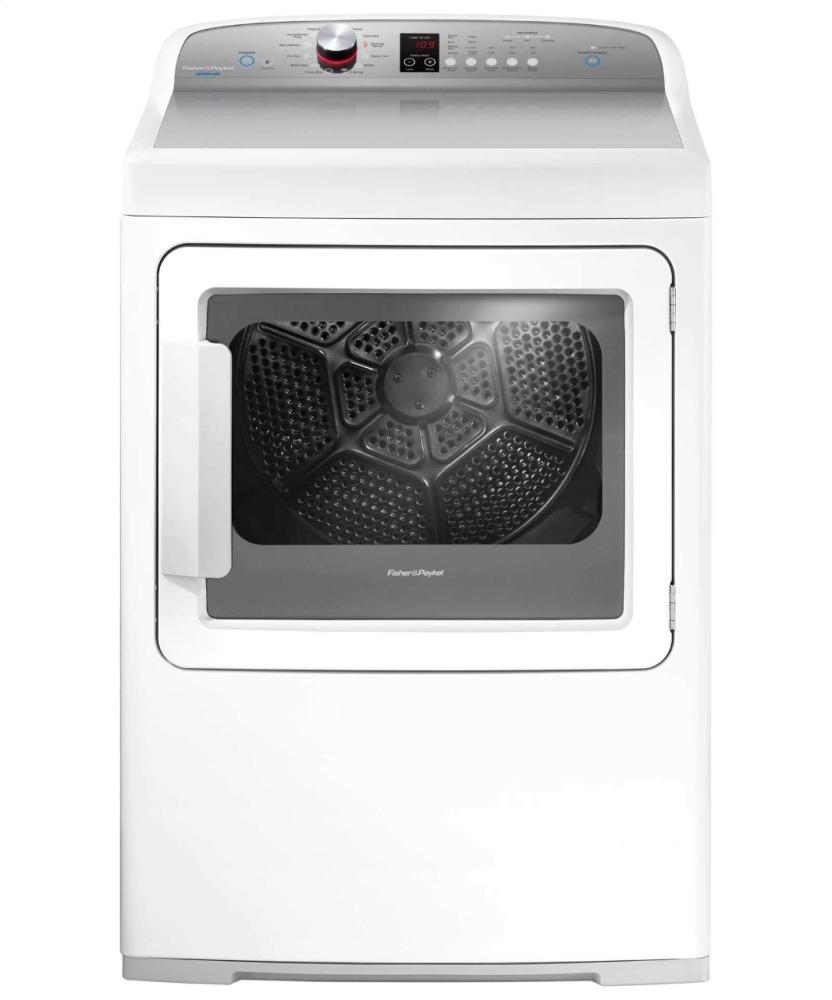 Electric Dryer, SmartTouch Dial and Steam Cycles  White