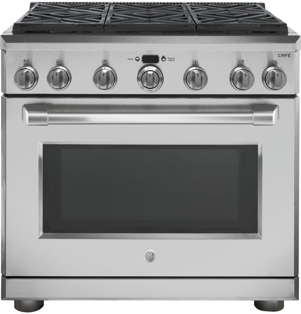 "GE Cafe(TM) Series 36"" All Gas Professional Range with 6 Burners (Natural Gas)